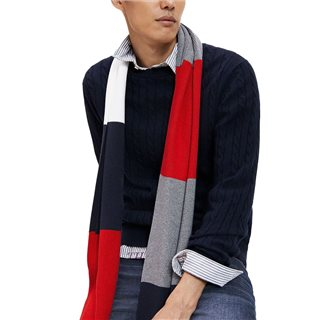 Tommy Hilfiger Sky Captain Heather Cable Knit Jumper