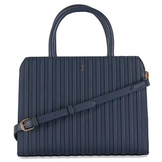 Paul's Boutique Navy Midi Mabel Top Handle Bag