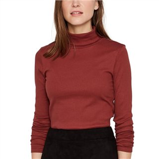 Vero Moda Brown Tight Fit Irina Rollneck Knitted Pullover