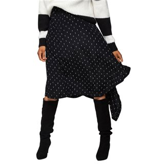 Selected Femme Black Pleated Melissa Midi Skirt