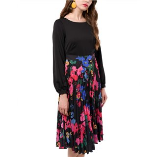 Closet London Black 2 In 1 Floral Dress