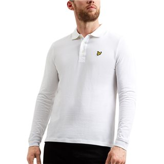 Lyle & Scott Classic White Long Sleeve Polo Shirt