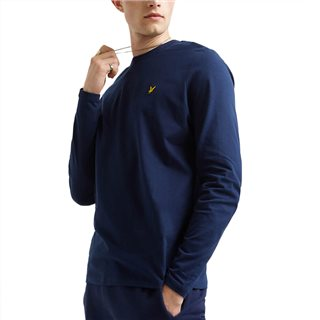 Lyle & Scott Navy Long Sleeve T-Shirt