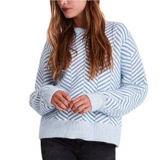 ICHI Country Blue Felka Knitted Pullover