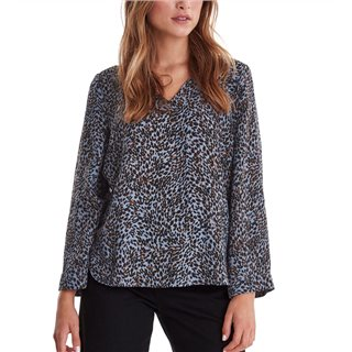 ICHI Country Blue Barbara Long Sleeve Shirt