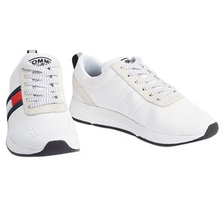 Tommy Hilfiger Footwear White Textured Flag Trainers