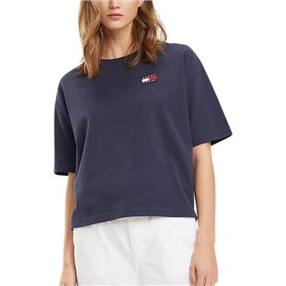 Tommy Hilfiger Ladies Black Iris Badge Boyfriend Fit T-Shirt