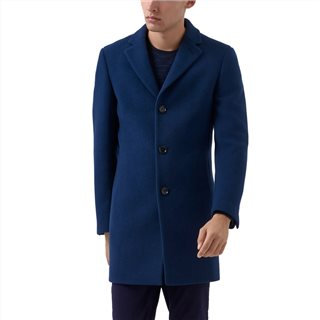 Remus Uomo Navy Rueben Tailored Overcoat