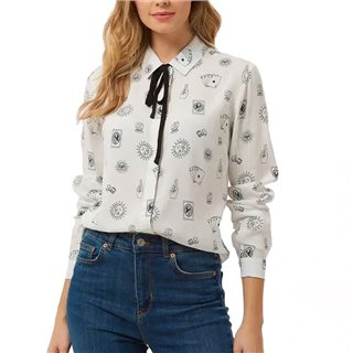 Sugarhill Brighton White Catrina Fortune Teller Shirt