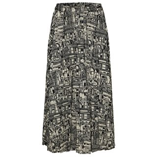 Selected Femme Black City Print Firma Maxi Skirt