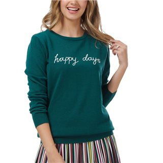 Sugarhill Brighton Teal Velma Happy Days Sweater