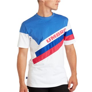 Umbro Bright White / Dazzling Blue Sector Crew Neck T-Shirt