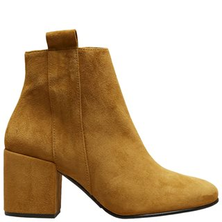 Selected Femme Ecru Olive Suede Leather Ankle Boot