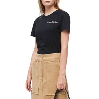 Calvin Klein Ck Black Slim Embroidered T-Shirt