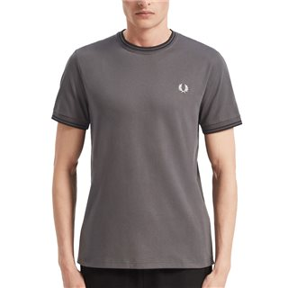 Fred Perry Gunmetal Twin Tipped T-Shirt