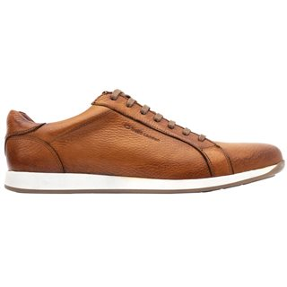 Base London Tan Flare Grain Leather Trainers