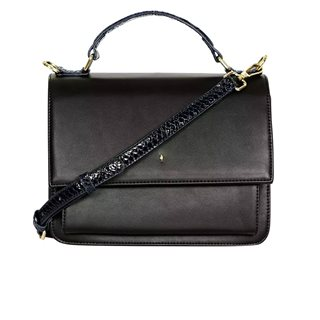 Paul's Boutique Black / Navy Christy Mini Satchel