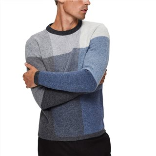 Selected Homme Light Blue Pixel Crew Neck Sweater