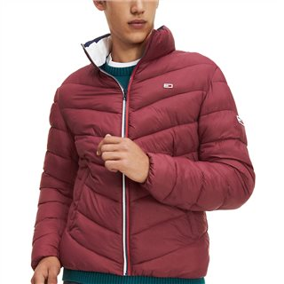 Tommy Jeans Burgundy Essential Puffer Jacket