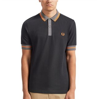 Fred Perry Black Contrast Trim Polo Shirt