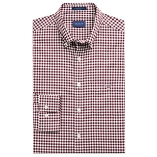 Gant Port Red Regular Fit Broadcloth Gingham Shirt
