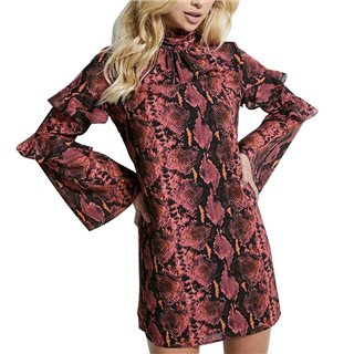 Guess Pink Cathy Snake Print Dress