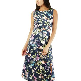 Closet London Multi Floral A-Line Dress
