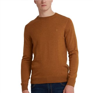 Farah Mullen Merino Wool Crew Neck Sweater