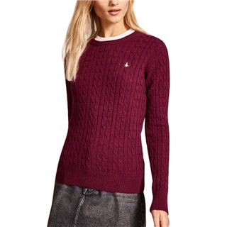 Jack Wills Tinsbury Classic Cable Crew Neck Sweater