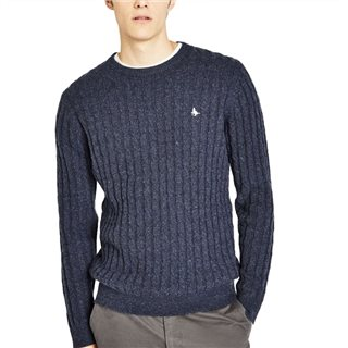 Jack Wills Marlow Wool Blend Cable Knit Crew Neck Sweater