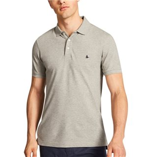 Jack Wills Grey Eaton Stretch Polo Shirt