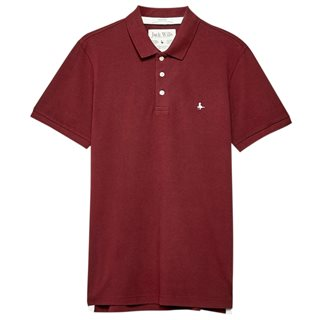 Jack Wills Damson Eaton Stretch Polo Shirt
