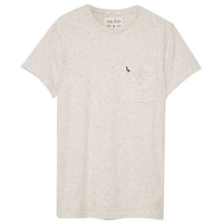 Jack Wills Ecru Ayleford Nep T-Shirt