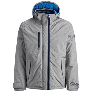 Jack & Jones Core Grey Contrast Coloured Down Jacket
