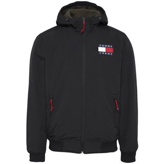 Tommy Jeans Black Padded Zip Thru Jacket