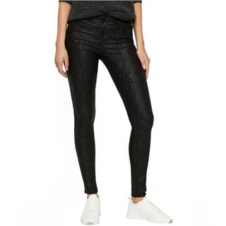 Vero Moda Black Seven Snake Embossed Trousers
