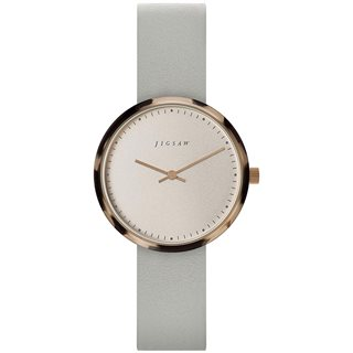 Jigsaw Rose Gold Alara 31mm Leather Watch