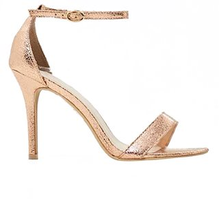 Glamorous Rose Gold Barely There Heels