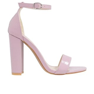 Glamorous Lilac Barely There Block Heels