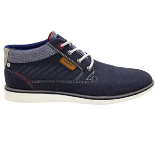 Tommy Bowe Footwear Washed Denim Purcell Lace Up Boots