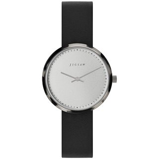 Jigsaw Silver Alara 31mm Leather Watch