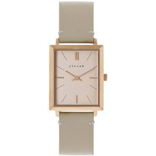 Jigsaw Rose Gold Hayleford 30mm Leather Watch