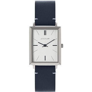 Jigsaw Navy Hayleford 30mm Leather Watch