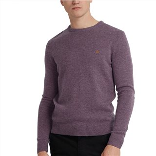 Farah Rose Taupe Marl Rosecroft Lambswool Jumper