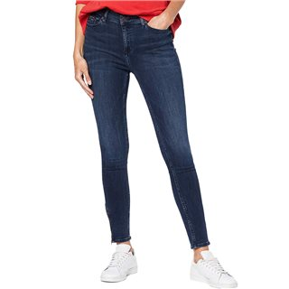 Tommy Hilfiger Ladies Fresno Dark Blue Mid Rise Nora Skinny Jeans