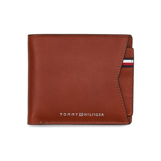 Tommy Accessories Cognac Wallet And Removable Credit Card Holder