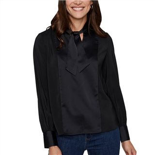 Vero Moda Black Long Sleeve Tie Blouse