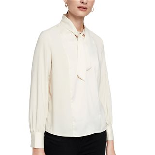 Vero Moda Birch Long Sleeve Tie Blouse