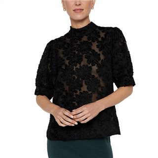 Vero Moda Black Floral Crochet Top