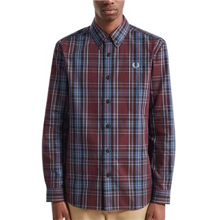 Fred Perry Mahogany Winter Tartan Shirt